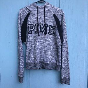 PINK VS — Grey & Black soft hoodie jacket